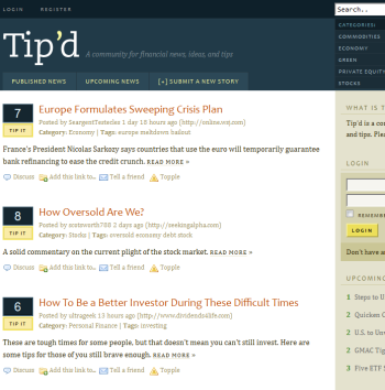 Tipd - A new community for financial news.